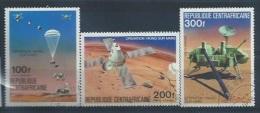 CENTRAFRIQUE : PA Y&T N° 153 à 155 Opération Viking Sur Mars
