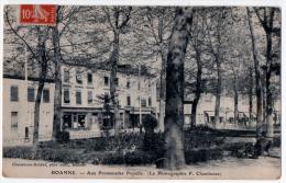 Roanne Loire Boutique Photographie Promenade Populle 1914 état Très Bon - Roanne