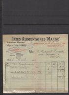 """69 - Lyon - Pates Alimentaires """" Marges """" - Usine De Lyon -1914 - Frankreich"""