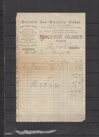 75 - Paris - Société Des Biscuits Olibet - 1916 - Frankreich