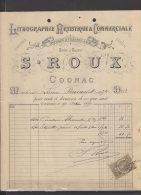 16 - Cognac - S. Roux - Lithographie Artistique & Commerciale - 1889 - Frankreich
