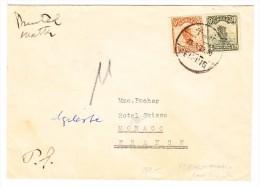 China Brief Als Drucksache Von Peking Nach Monaco (selten) - 1912-1949 République