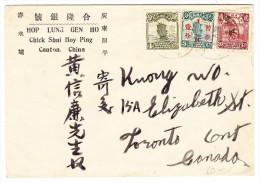 China Brief 3 Farben Frankatur Von Canton Nach Toronto Canada - 1912-1949 République