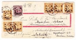 China Brief 1.1.1947 Shanghai Nach Bruxelles Mit Ankunfts Stempel - 1912-1949 République