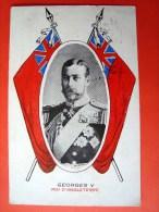 Roi Georges V , Roi D´Angleterre, Circulée En 1917, Sceau Postal Genève Exp. Lettre, Suisse - Familles Royales