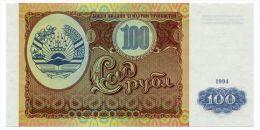 TADJIKISTAN 100 RUBLES 1994 Pick 6 Unc - Tadschikistan