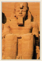 EGITTO   ABU SIMBEL:  LA STATUA DI RAMSETE II        (NUOVA CON DESCRIZIONE DEL SITO SUL RETRO) - Abu Simbel