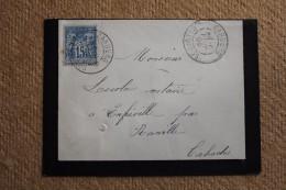 Enveloppe Pour Ranville Affranchissement Type Sage Oblitération Type A Cabourg Calvados 13 - 1877-1920: Semi-Moderne