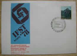 1978 YUGOSLAVIA COVER 7th INTERNATIONAL FESTIVAL OF SPORT AND TOURISM FILMS KRANJ FILM MOVIE CINEMA - Cinema