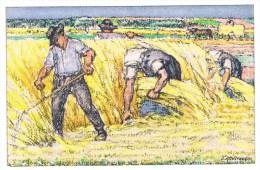 1/1. Thème :  Agriculture Faucheurs. Blé.Attelage. Entier  Bundesfeier 1920. (non Circulé) - Landwirtschaft