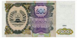 TADJIKISTAN 200 RUBLES 1994 Pick 7 Unc - Tadschikistan