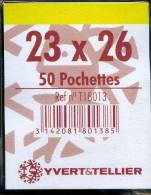 50 Pochettes Simple Soudure Fond Transparent 23X26 Mm - Clear Sleeves
