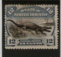 NORTH BORNEO 1894 12c BLACK AND BLUE SG 75a PERF 13½ - 14 MOUNTED MINT Cat £29 - Bornéo Du Nord (...-1963)