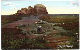 Haytor Rocks (on The Edge Of Dartmoor) Colour Postcard Unused C1918 - England