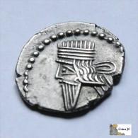 Imperio Parto - Dracma - Volagases III - 105/147 DC - Grecques