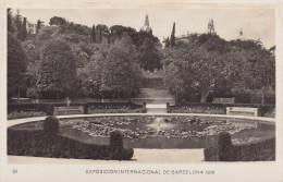 España--Barcelona--1929--Surtidor Y Subida A La Rosaleda--Exposicion Internacional De Barcelona - Exposiciones