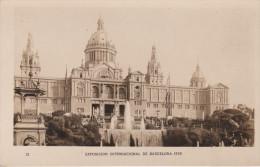 España--Barcelona--1929--Cascada Monumental Y Palacio--Exposicion Internacional De Barcelona - Exposiciones