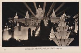 España--Barcelona--1929--Cascada Monumental Y Palacio Nacional ( Nocturna )--Exposicion Internacional De Barcelona - Exposiciones