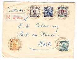 China R-Brief Von SHIHKIA-CHWANG Nach Haiti Seltene Destination - 1912-1949 République