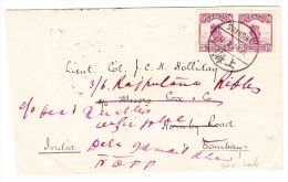 China Brief Von SHANGHAI Nach Bombay 5.4.1924 AK-Stempel - 1912-1949 République