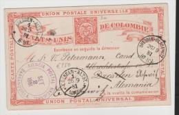 Col083/ P 3a, Barranquilla - Dresden 1881 Mit Weiterleitung - Kolumbien