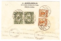 China  Brief Von Pekin Nach Agen Frankreich AK-Stempel 2.7.1929 - 1912-1949 République