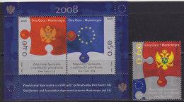 Montenegro, 2008, Stabilization And Association Agreement Between Montenegro And EU, MNH (**) - Montenegro