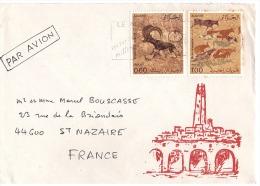 ALGERIE - LETTRE - ANIMAUX - MOUFLON - Lettre Algérie Pour Saint Nazaire - Timbres Mouflon Et Cervidés - 1982 - Andere