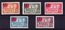 Taiwan Mi.# 143-147 (*) - 1945-... République De Chine