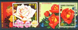 Guinea Equatorial 1979 Roses 2 Bl. S/S MNH - Guinée Equatoriale