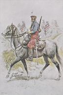 Cuirassiers D' Afrique Tenue De Campagne 1886 Uniform Postcard (U15003) - Uniforms