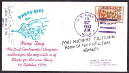 USA 1973, Cover. NAVY DAY. THREE BEES. Condition, See The Scans. - Event Covers