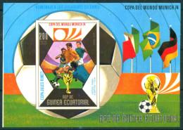 Guinea Equatorial 1973 Football Soccer Germany 1974 Gerson Albertosi Bl.  S/S MNH - Equatorial Guinea