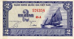 Vietnam South 2 Dong 1955 Pick 12 AUNC - Vietnam