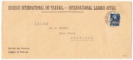 China Shanghai 5.4.1927 Ankunfts Stempel Brief Aus Schweiz Amt BIT - Chine