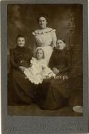 Photo Cabinet Vers 1880 -portrait  En Famille-grands-mères, Mère Et Jolie Fillette-par Moyston à Memphis Tennessee USA - Ancianas (antes De 1900)