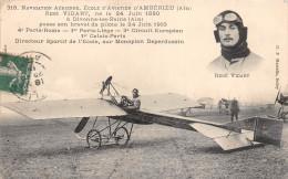 ¤¤  -  318   -  AMBERIEU  -  Ecole D´Aviation  -   René VIDART  -  Avion , Aviateur  -  ¤¤ - Non Classés