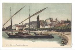 12175 -  Nyon Déchargement D´une Barque Dans Le Port - VD Vaud