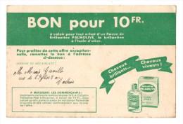 CP Entier Postal - Publicité - Colgate Palmolive - Carte Bon Valeur - Rare - - Werbepostkarten