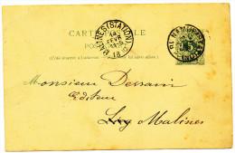 1890 CARTE POSTALE VAN NAMUR(STATION)(1-RING) NAAR MALINES(STATION)(1-RING)  ZIE SCAN(S) - Cartes Postales [1871-09]