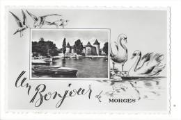 12186 -  Un Bonjour De Morges Château Cygnes - VD Vaud