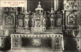 29 - SIZUN - Intérieur église - Autel - Sizun