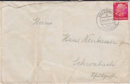 DR 3 Reich Mi 519 PSt I Stempel Katzwang ü Schwabach Bf 1939 - Briefe U. Dokumente