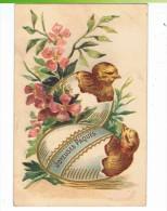 CPA-1908-FANTAISIE-JOYEUSES PÂQUES-ILLUSTRATEURS-2 POUSSINS QUI SORTENT DE DEUX COQUILLES- - Pâques