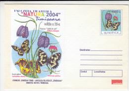 15797- MUSHROOMS, FLOWERS, BUTTERFLIES, COVER STATIONERY, 2004, ROMANIA - Mushrooms