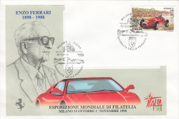 15799- CARS, FERRARI DAY, ENZO FERRARI, SPECIAL COVER, 1998, ITALY - Voitures