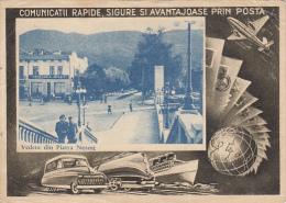 15908- PIATRA NEAMT STREET VIEW, SHIP, PLANE, TRAIN, CAR, POSTCARD STATIONERY, 1967, ROMANIA - Interi Postali