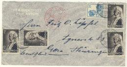 Niederl�ndisch Indien Brief Luftpost nach Deutschland Gera