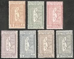 Oltre Giuba,  Scott 2015 # 29-35,  Issued 1926,  Set Of 7,  VLH,  Cat $ 11.00,  Maps - Oltre Giuba