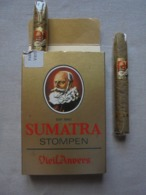 """Ancienne Boite De Cigares  """"SUMATRA STOMPEN Vieil Anvers"""" Années 60 - Cigares - Accessoires"""